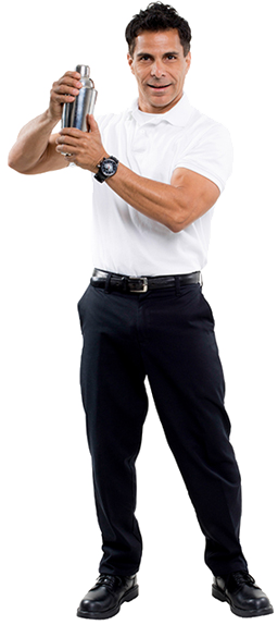 Black Slacks & White Polo