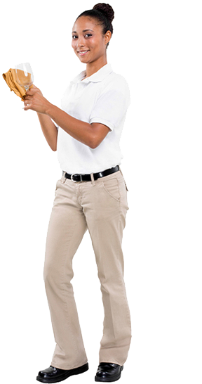 Khaki & White Polo (Available in select locations only)
